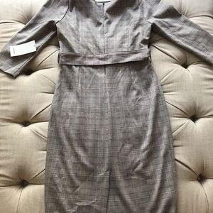 NWT Zara Belted Boat Neck Sheath Dress size large